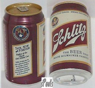 Canette de bière collector Schiltz / 50ème Anniversaire
