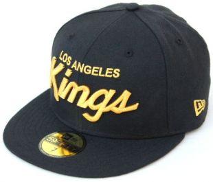NHL Los Angeles Kings Script New Era 59Fifty Fitted Cap Hat   Black/Gold  | eBay