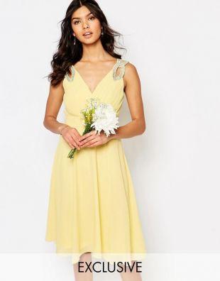 TFNC WEDDING Embellished Shoulder Prom Dress at asos.co