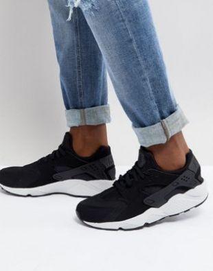 Nike   Air Huarache 318429 045   Baskets   Noir