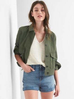 Crop utility jacket | Gap
