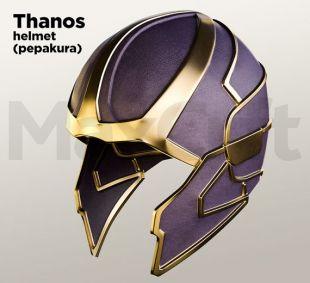 Casque de Thanos (pepakura, mousse et papier déplier)