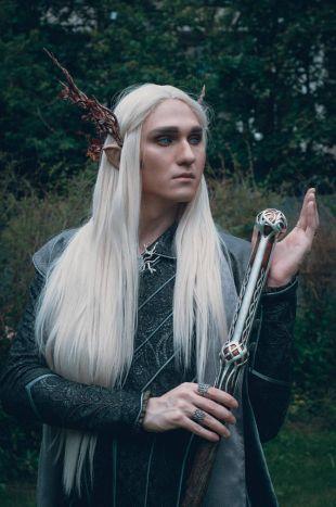 Hobbit Thranduil cosplay costume coat and cloak