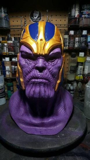 Purple skin the destroyer latex mask
