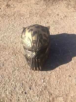 Golden Jaguar (Erik Killmonger) helmet. Pre-Order