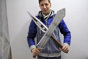 Killmonger Black Panther Sword And Spear Cosplay -Black Panther movie Replicas-Killmonger Sword Spear original design-Easter Gift