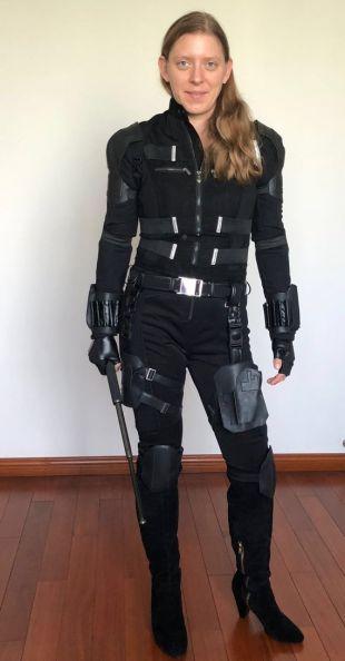 Costume cosplay de Black Widow (All Black Version) de Avengers Infinity War