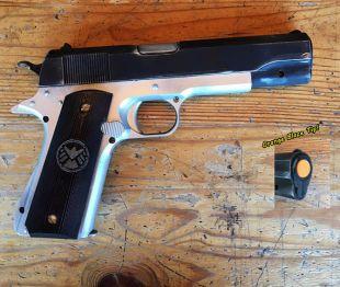 Avengers Black Widow bouclier 45 Cal pistolet, Non tir les accessoires (en argent)