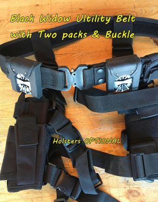 Black Widow Utility Belt with packs. Holster Options