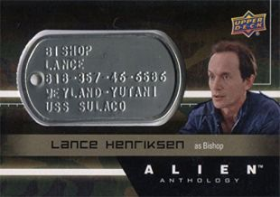 Alien Anthology Space Marine Dog Tag dT-BS Lance Henriksen as Bishop