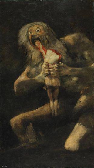 Saturne dévorant un de ses fils de Francisco De Goya