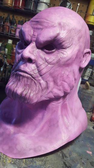 Thanos' latex face
