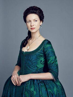 Replique sur mesure robe verte Claire Fraser de la saison 2