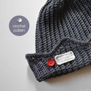 PDF Crochet Pattern   Jughead Jones Beanie / Crochet Whoopee Cap / Riverdale Beanie   (PDF file), Sizes: from 2 Months Old to XL Adult