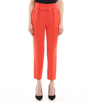Pantalon ceinture nœud