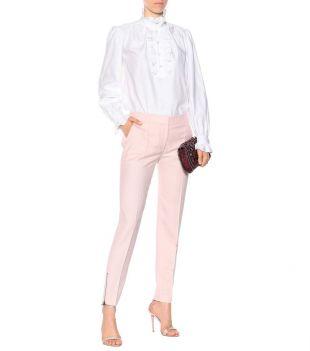 Pantalon en crêpe de laine rose Stella McCartney