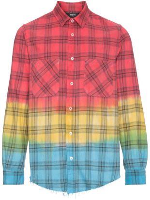 Chemise à Carreaux Et Effet Tie Dye
