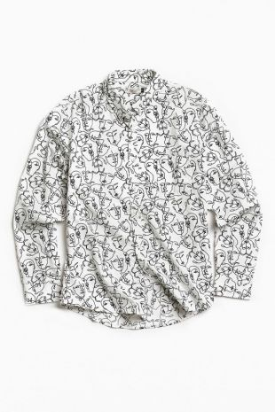 Face Printed Shirt Worn By Elio Perlman Timothee Chalamet As Seen In Call Me By Your Name Spotern