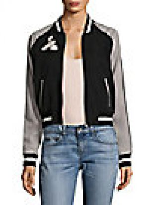 Willa Reversible Embroidered Bomber Jacket