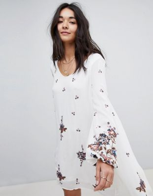 Oxford Embroidered Dress