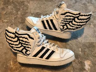 Adidas Jeremy Scott Wings 2.0 Pixel sneakers worn by Jack