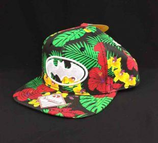 DC Comics Batman Logo Bioworld Hawaiian Flower Snapback Hat Black Tropical OS    eBay