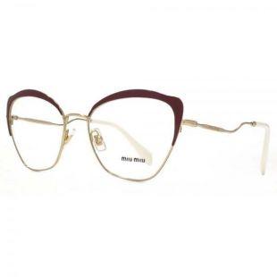 Brand New 2018 Miu Miu Authentic Eyeglasses MU 54PV UA5 1O1 145mm Cat Eye Red S  | eBay