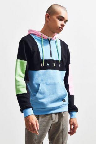 Lazy Oaf Color Panel Hoodie Sweatshirt