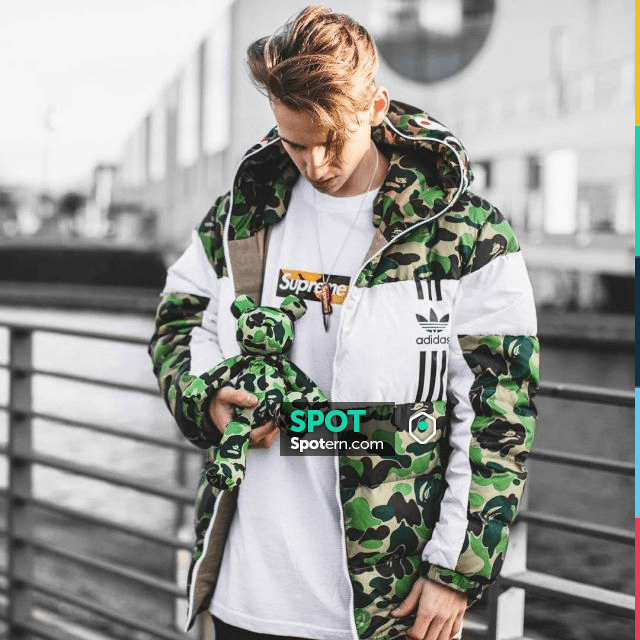 The jacket Bape x Adidas worn by the influencer Max