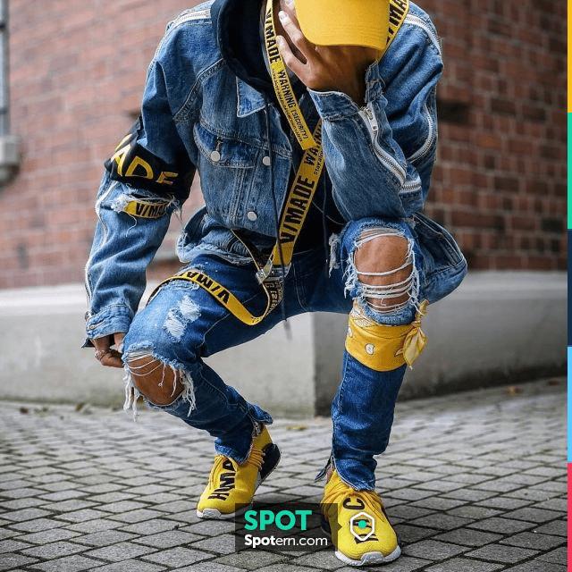 Les sneakers jaunes adidas NMD HU Pharrell Human Race Yellow