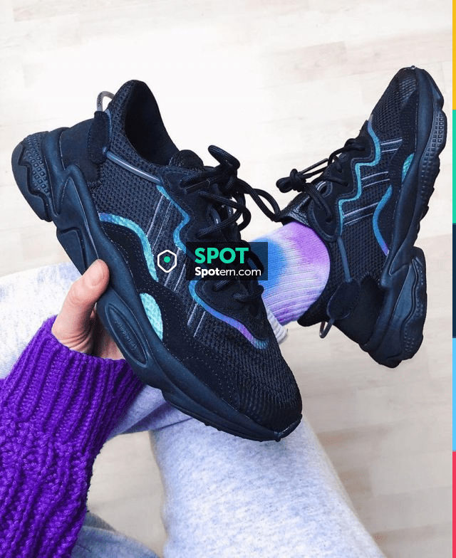 Adidas Ozweego Core Black Bright Cyan on the account Instagram of ...