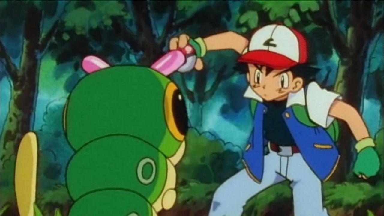 La réplique des gants verts portés par Sasha dans Pokémon S01E03