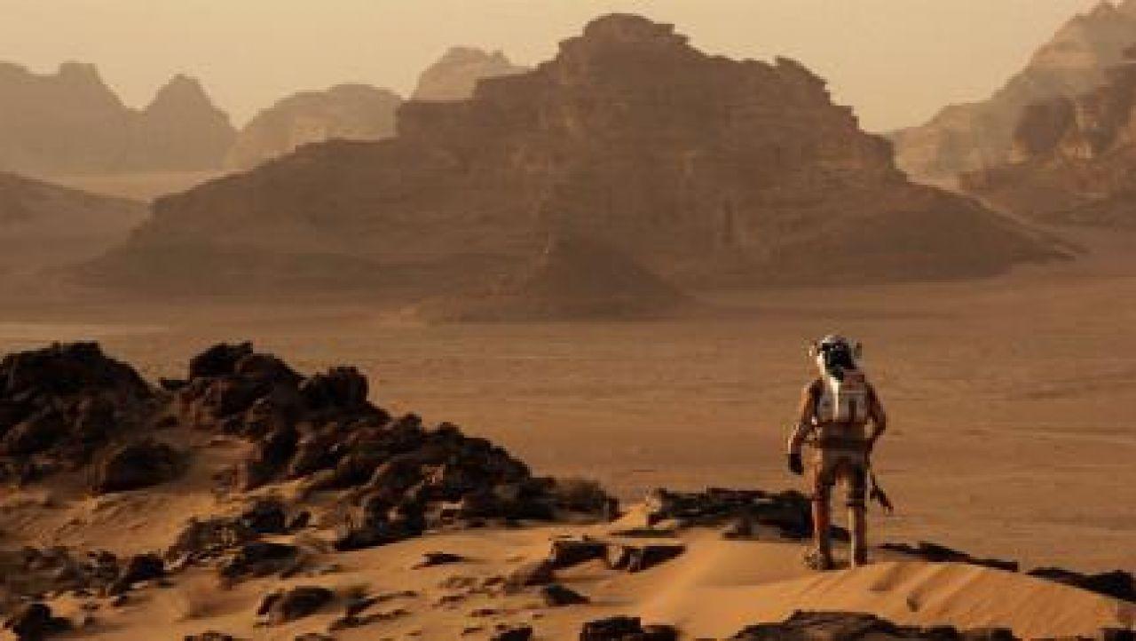 Le désert de Wadi Rum en Jordanie dans Seul sur Mars