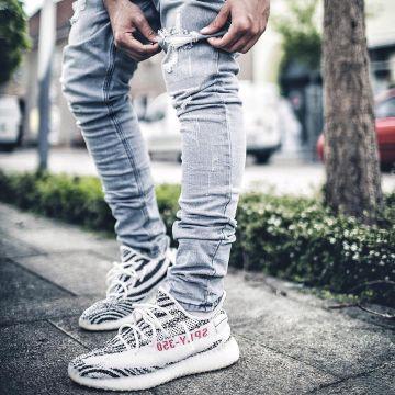 zebra yeezys outfit
