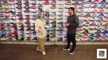 Billie Eilish Goes Sneaker Shopping