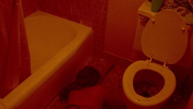Abattant WC crasseux dans Spring Breakers