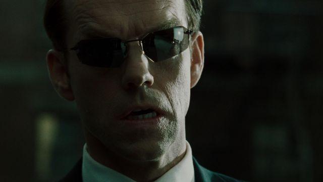 Les lunettes de soleil Blinde 4040 portées par l'Agent Smith