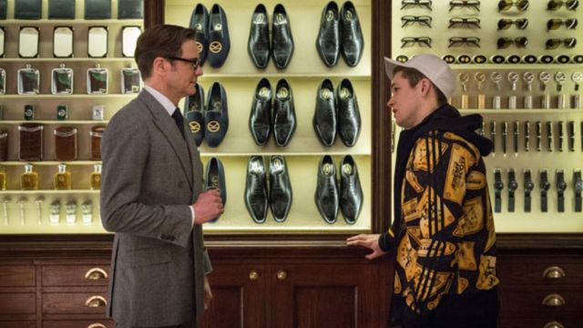 huge inventory newest best website The jacket is Adidas by Jeremy Scott of Eggsy (Taron Egerton ...