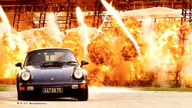 The Porsche 911 Turbo 3.6 of Mike lowrey's (Will Smith) in Bad Boys