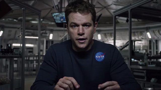 The t-shirt Nasa of Mark Watney (Matt Damon) in a Single on March