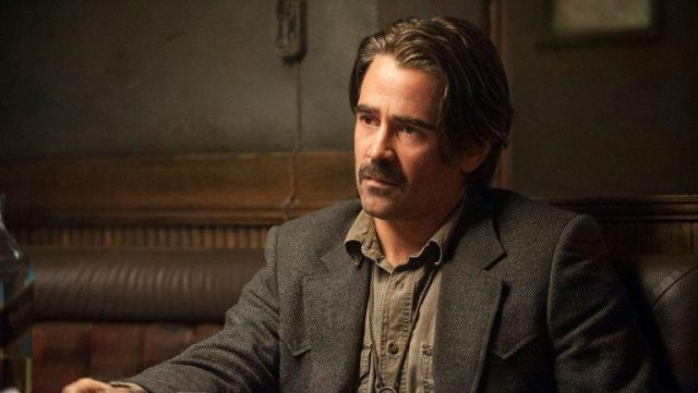 """The tweed jacket of Ray Velcoro (Colin Farrell) in """" True Detective S02E01"""