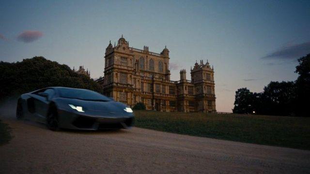 The Lamborghini Aventador of Bruce Wayne in The Dark Knight Rises