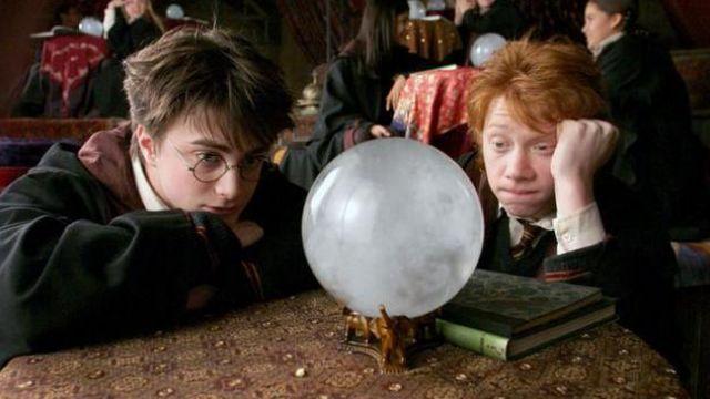 The ball of Divination professor Sybil Trelawney (Emma Thompson) in Harry Potter and the prisoner of Azkaban
