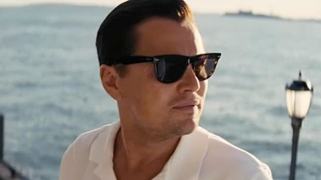 Sunglasses Ray Ban 4147 of Jordan Belfort (Leonardo DiCaprio) in The Wolf of Wall Street