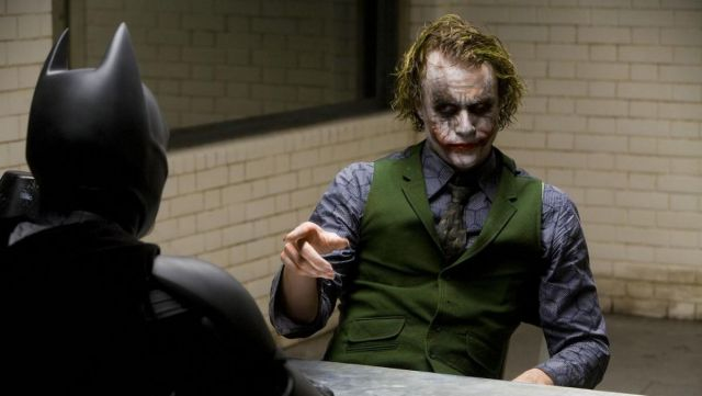 The blue shirt with hexagons of the Joker (Heath Ledger) in The Dark Knight