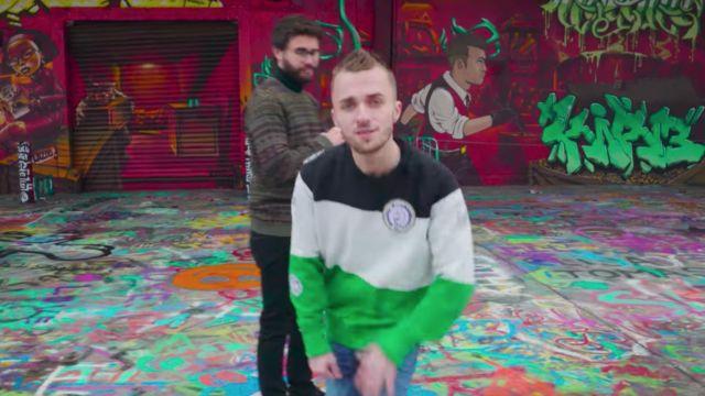 Le sweatshirt de Squeezie dans la vidéo Top 10 des jeux 2017 de Cyprien