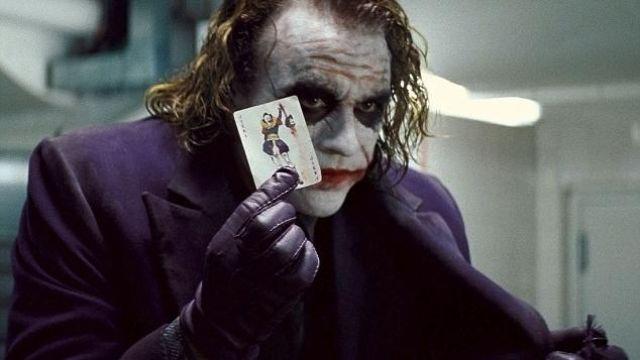 Purple Leather Gloves worn by The Joker (Heath Ledger) as seen in Batman: The Dark Knight