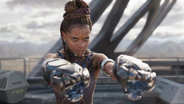 Nerf Vibranium Strike Gauntlet worn by Shuri (Letitia Wright) as seen in Black Panther