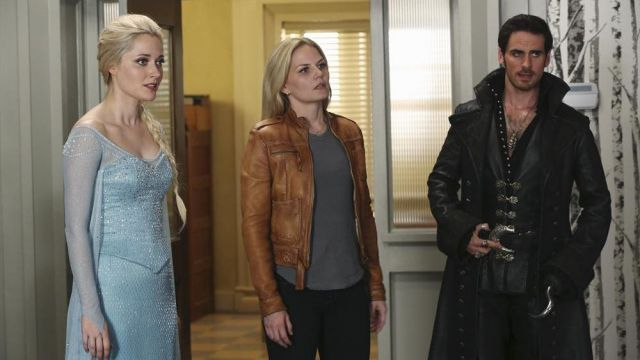 Brown Leather Jacket worn by Emma Swan (Jennifer Morrison) as seen in Once Upon A Time S04E06