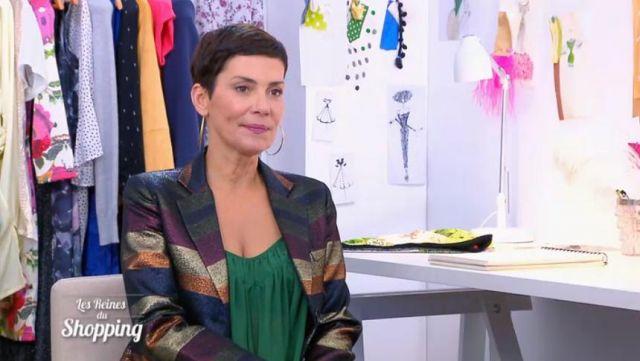 pas mal 6c155 81d0c La veste à rayures brillantes de Cristina Cordula dans Les ...